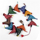 String of Rustic Fabric Birds